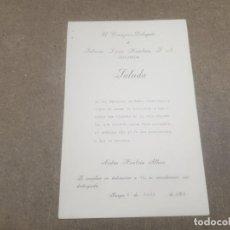 Documentos antiguos: SALUDA DE FABRICAS LUCIA HOMBRIA .. BURGOS AL DIRECTOR DE RADIO CASTILLA.....1964..... Lote 195380392