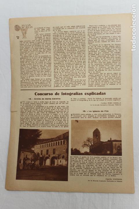 Documentos antiguos: EN LAS ESCUELAS, VALENCIA, ESCUELA REFORMATORIO FUNDADA POR UN TORERO, 1936 - Foto 3 - 195385995