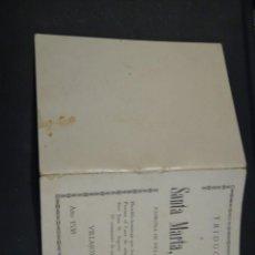 Documentos antiguos: TRIDUO A SANTA MARTA VIRGEN. PATRONA DE VILLAJOYOSA. 1938. ALICANTE . Lote 195402536