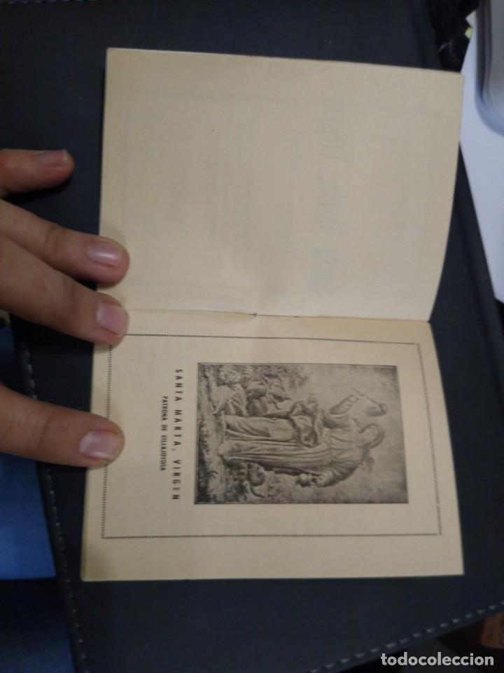 Documentos antiguos: Triduo a Santa Marta Virgen. Patrona de Villajoyosa. 1938. Alicante - Foto 2 - 195402536