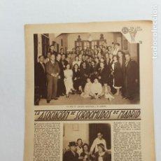 Documentos antiguos: EN LAS ESCUELAS, LA ASOCIACION DE SORDOMUDOS DE MADRID, 1936. Lote 195405116