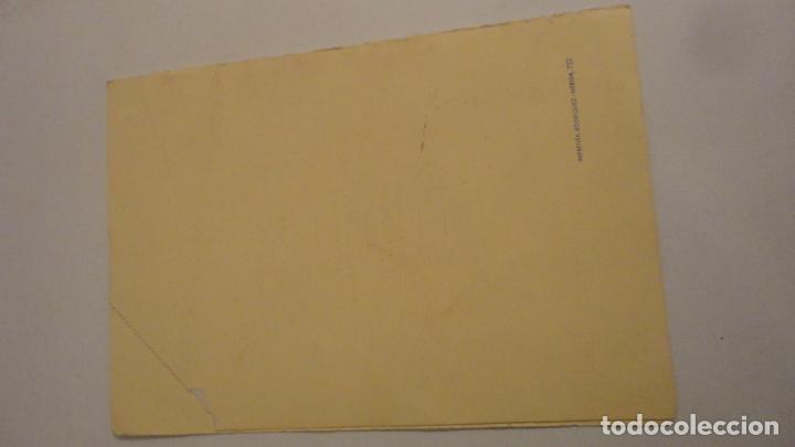 Documentos antiguos: TARJETA-MENU.COMIDA HONOR FERNANDO G.DE BLANES CONTRERAS.COPA ESPAÑA.TIRO PICHON.MERIDA 1959 - Foto 4 - 195430815