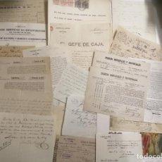 Documentos antiguos: DOCUMENTOS VARIOS. DEL 1835 AL 1939 MATARÓ. UN TOTAL DE 22 DOCUMENTOS.. Lote 195453101