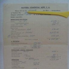 Documentos antiguos: MARINA MERCANTE: NOMINA 1º OFICIAL MOTONAVE PEDRO DE VALDIVIA, NAVIERA COMERCIAL ASPE S.A., 1960. Lote 195486192