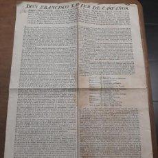 Documentos antiguos: 3631.-MEDICINA CIRUGIA- BANDO EDICTO DE DON FCO XAVIER DE CASTAÑOS CONCESION TITULO DE MEDICO. Lote 195486371