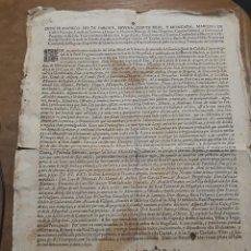 Documentos antiguos: 3631.- FABRICACION DE MONEDA FALSA-BANDO DE DON FCO PIO DE SABOYA MOURA -MARQUES DE CASTEL RODRIGO. Lote 195486831