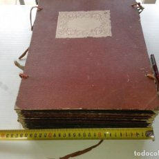 Documentos antiguos: TAPAS ANTIGUAS DE CARTÓN CON CORDELES, MEDIDAS 35 X 25 CM (SON 12 PARES, EL PRECIO ES POR TODAS). Lote 195533612