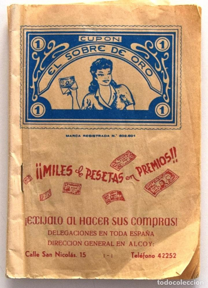 ALCOY (ALICANTE) CARTILLA CUPÓN EL SOBRE DE ORO - JOSÉ TORMO - AÑOS 50 - COMPLETA LLENA DE CUPONES (Coleccionismo - Documentos - Otros documentos)