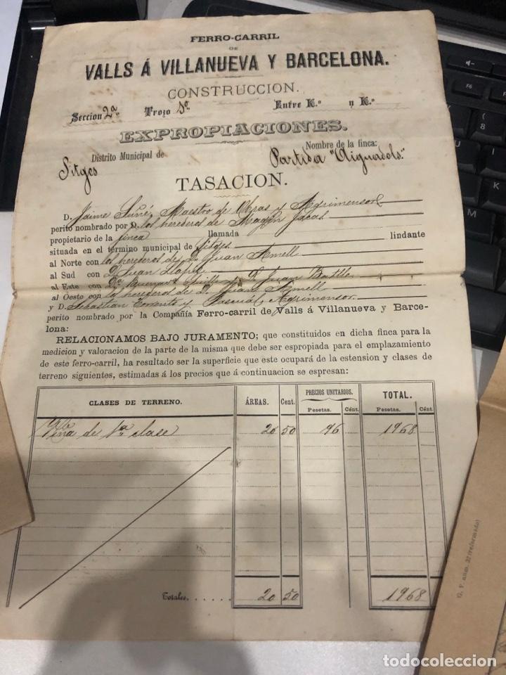 Documentos antiguos: Compañia de los ferrocarriles de madrid a Zaragoza y a alicante - Foto 2 - 195775725