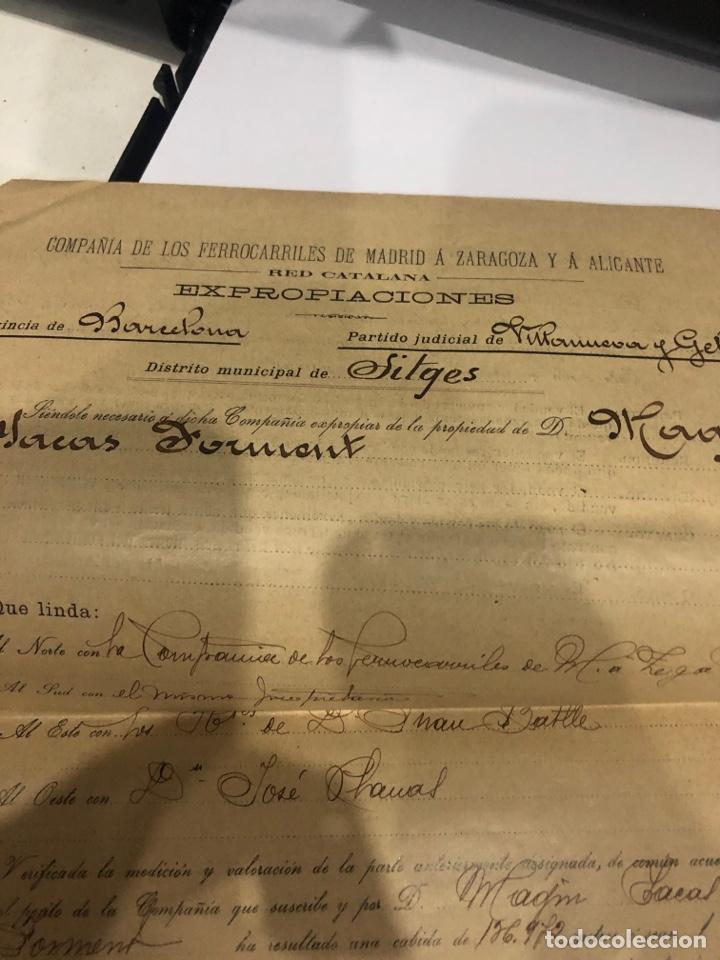 Documentos antiguos: Compañia de los ferrocarriles de madrid a Zaragoza y a alicante - Foto 4 - 195775725