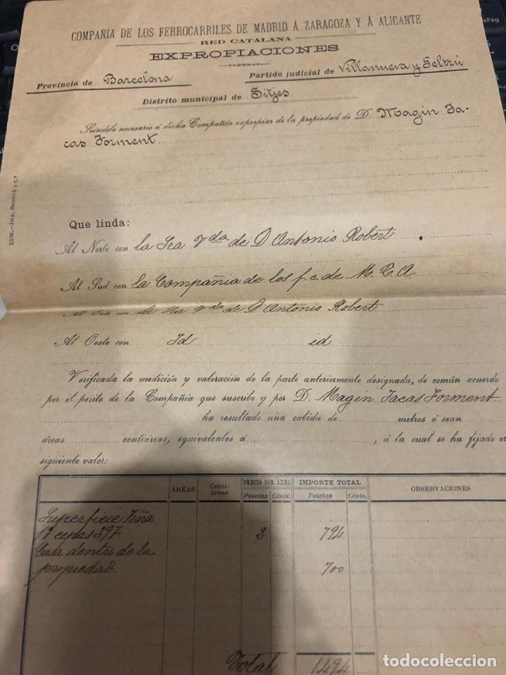 Documentos antiguos: Compañia de los ferrocarriles de madrid a Zaragoza y a alicante - Foto 5 - 195775725