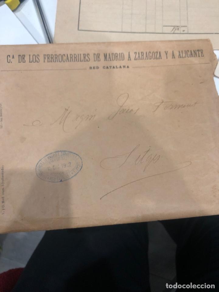 Documentos antiguos: Compañia de los ferrocarriles de madrid a Zaragoza y a alicante - Foto 6 - 195775725