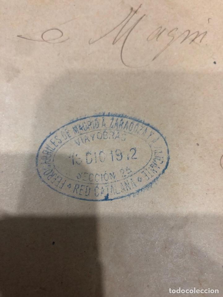 Documentos antiguos: Compañia de los ferrocarriles de madrid a Zaragoza y a alicante - Foto 7 - 195775725