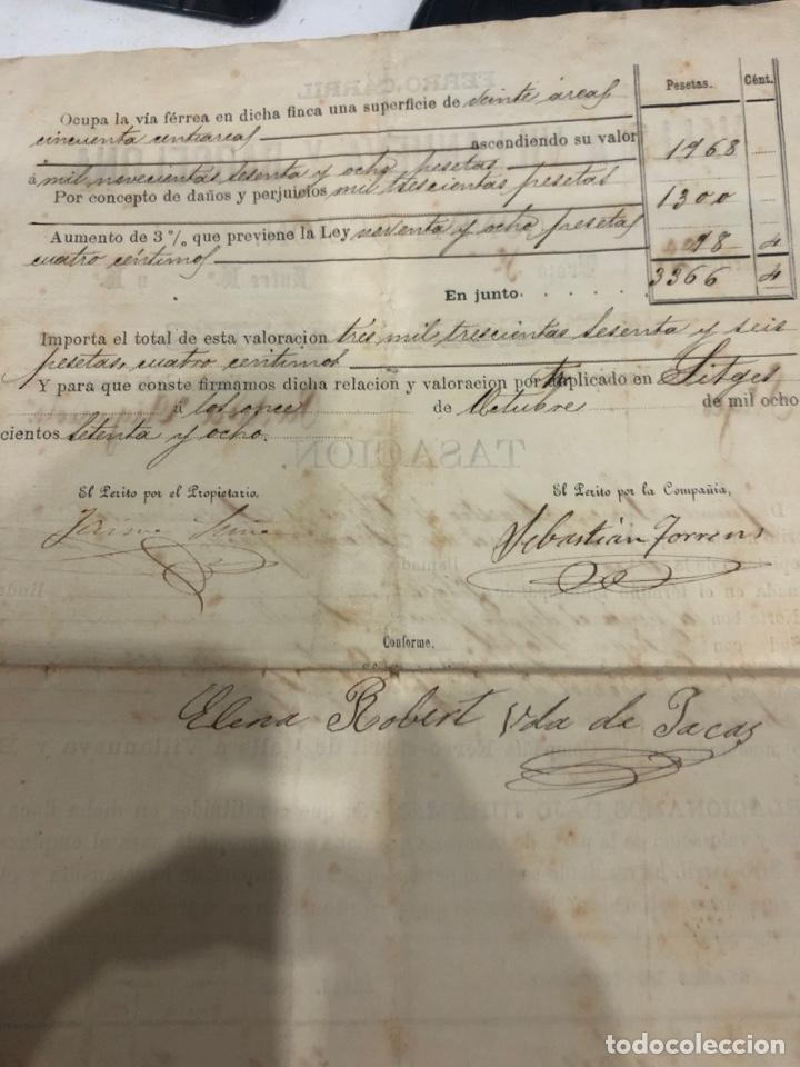 Documentos antiguos: Compañia de los ferrocarriles de madrid a Zaragoza y a alicante - Foto 9 - 195775725