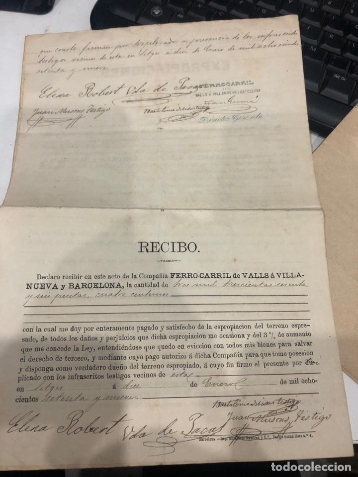 Documentos antiguos: Compañia de los ferrocarriles de madrid a Zaragoza y a alicante - Foto 11 - 195775725