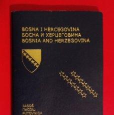 Documentos antiguos: PASAPORTE DE BOSNIA Y HERZEGOBINA 2010, PASSPORT PASSEPORT,REISEPASS. Lote 196022651