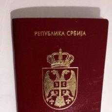 Documentos antiguos: PASAPORTE DE SERBIA 2011, PASSPORT, PASSEPORT,REISEPASS. Lote 196024256