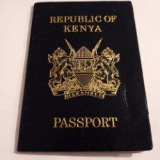 Documentos antiguos: PASAPORTE DE KENIA 2008, PASSPORT, PASSEPORT,REISEPASS. Lote 196027293