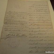 Documentos antiguos: NOMBRAMIENTO DE INTERINO DE LA BENEFICENCIA PROVINCIAL, FIRMA JULIO PEREZ OBON 1906. Lote 196104626