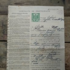 Documentos antiguos: CONTRATO DE INQUILINATO 1953. Lote 196206418