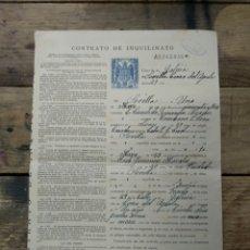Documentos antiguos: CONTRATO DE INQUILINATO DEL AÑO 1953. Lote 196206741
