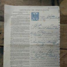 Documentos antiguos: CONTRATO DE INQUILINATO DEL AÑO 1954. Lote 196207007