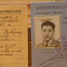Documentos antiguos: VALLADOLID, LOTE DOS CARNETS, SEU Y UNIVERSIDAD. PERFECTOS.. Lote 196220926