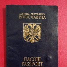 Documentos antiguos: PASAPORTE DE YUGOSLAVIA2005, PASSPORT, PASSEPORT,REISEPASS. Lote 196348663