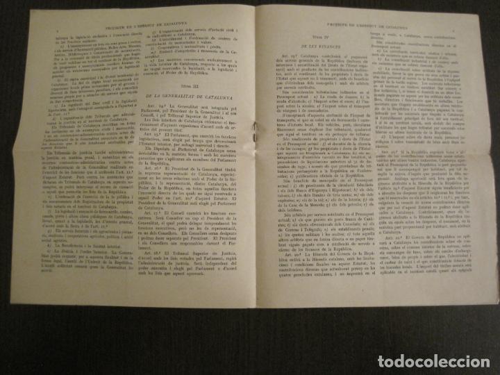 Documentos antiguos: PROJECTE DE LESTATUT DE CATALUNYA-DOCUMENT ANTIC-VER FOTOS-(V-19.395) - Foto 3 - 196805078