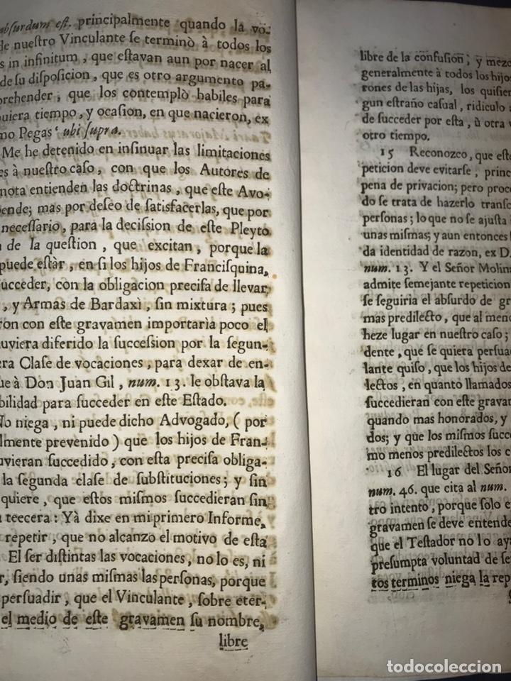 Documentos antiguos: 1735. HUESCA. CASTELFLORITE Y BARONÍA DE ANTILLÓN. MARQUÉS DE BARBOLES. - Foto 3 - 196915515