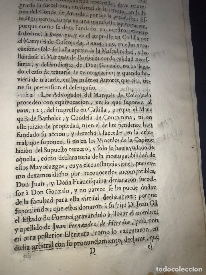 Documentos antiguos: 1735. HUESCA. CASTELFLORITE Y BARONÍA DE ANTILLÓN. MARQUÉS DE BARBOLES. - Foto 4 - 196915515