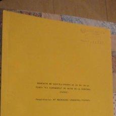 Documentos antiguos: PROYECTO.BASCULA-PUENTE.FINCA CANTARERA.ARCOS DE LA FRONTERA.GUARDIOLA FANTONI.1975.. Lote 197042476