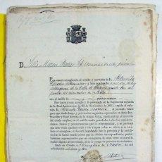 Documentos antiguos: NOMBRAMIENTO DE ESTANQUERA DE LA VILLA DE LUANCO. ASTURIAS. 1873. PRIMERA REPUBLICA. TABACO. Lote 197133731