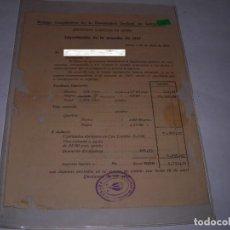 Documentos antiguos: DOCUMENTO COSECHA VENDIMIA. Lote 197175195
