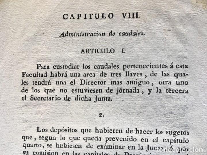 Documentos antiguos: REAL CEDULA DE S.M. ORDENANZAS FARMACIA - 1804 - - Foto 4 - 197183075