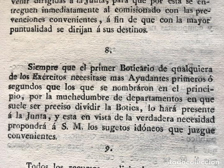 Documentos antiguos: REAL CEDULA DE S.M. ORDENANZAS FARMACIA - 1804 - - Foto 9 - 197183075