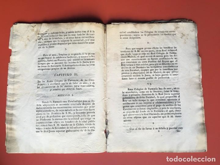 Documentos antiguos: REAL CEDULA DE S.M. ORDENANZAS FARMACIA - 1804 - - Foto 10 - 197183075
