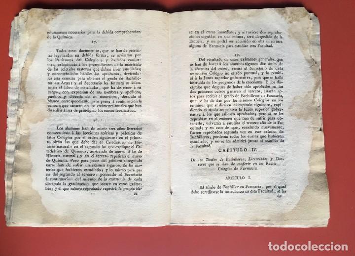 Documentos antiguos: REAL CEDULA DE S.M. ORDENANZAS FARMACIA - 1804 - - Foto 12 - 197183075