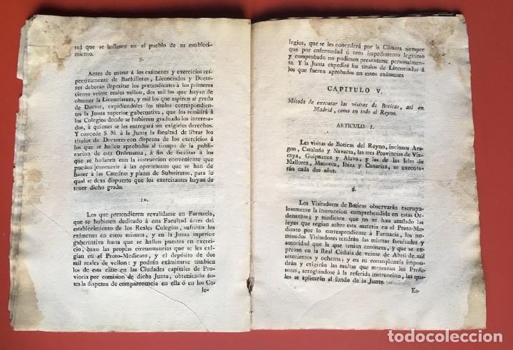 Documentos antiguos: REAL CEDULA DE S.M. ORDENANZAS FARMACIA - 1804 - - Foto 13 - 197183075