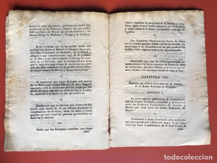 Documentos antiguos: REAL CEDULA DE S.M. ORDENANZAS FARMACIA - 1804 - - Foto 14 - 197183075