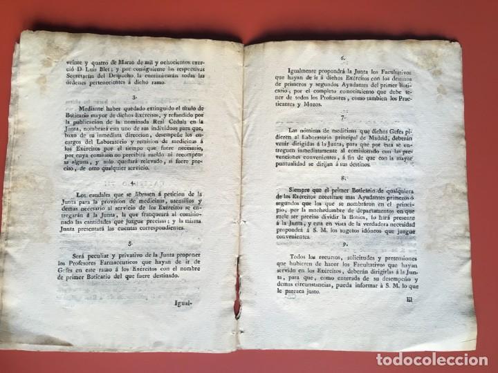 Documentos antiguos: REAL CEDULA DE S.M. ORDENANZAS FARMACIA - 1804 - - Foto 15 - 197183075