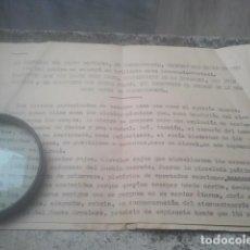 Documentos antiguos: TORREPEROGIL, JAÉN - COFRADÍA DEL SEPULCRO - CRÓNICA ACTO 50 ANIVERSARIO - CON JUAN PASQUAU - RAREZA. Lote 197251142