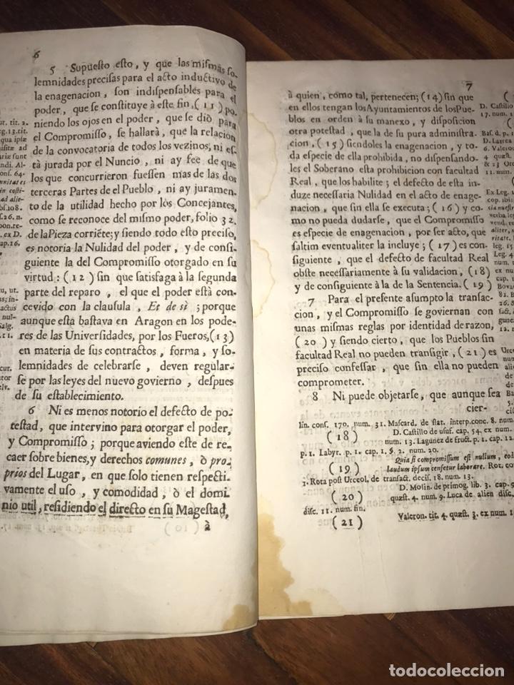 Documentos antiguos: HUESCA. FORNILLOS, ILCHE. PLEITO FORNILLOS Y VARON DE LETOSA. NULIDAD Y SENTENCIA. - Foto 5 - 197328445