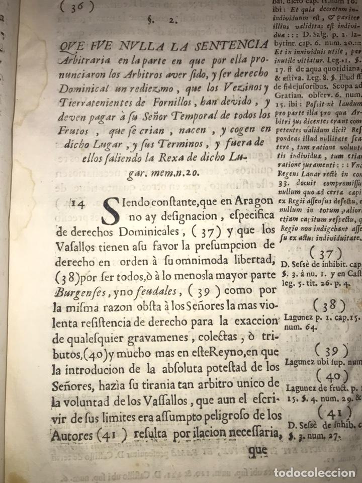 Documentos antiguos: HUESCA. FORNILLOS, ILCHE. PLEITO FORNILLOS Y VARON DE LETOSA. NULIDAD Y SENTENCIA. - Foto 6 - 197328445