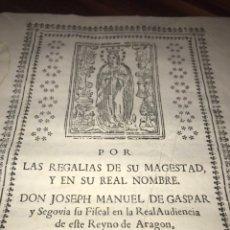 Documentos antiguos: HUESCA. FORNILLOS, ILCHE. PLEITO FORNILLOS Y VARON DE LETOSA. NULIDAD Y SENTENCIA.. Lote 197328445