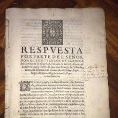 Documentos antiguos: 1607. DIEGO FRANCOS DE GARNICA. RENUNCIACIÓN PROFESION CONVENTO DEL CARMEN DE TOLEDO.. Lote 197643723