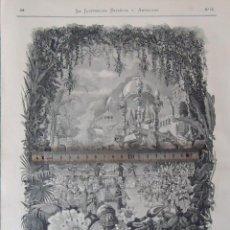 Documentos antiguos: LITOGRAFIA ILUSTRACION VINTAGE TEATRO REAL MADRID 1880 EL JARDIN DE LOS BIENAVENTURADOS OPERA LAHORE. Lote 197718405
