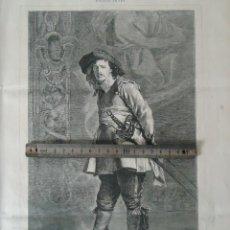 Documentos antiguos: LITOGRAFIA ILUSTRACION VINTAGE SOLDADO ESPADACHIN MOSQUETERO MILITAR 1880 ESPADA ESGRIMA MEISSONNIER. Lote 197756933