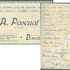 Documentos antiguos: TARJET,DORSO FIRMADO DE GRUPO DE PERSONAS QUE PASARON JUNTAS LAS ÚLTIMAS 48 HORAS DE LA GUERRA CIVIL. Lote 197911671