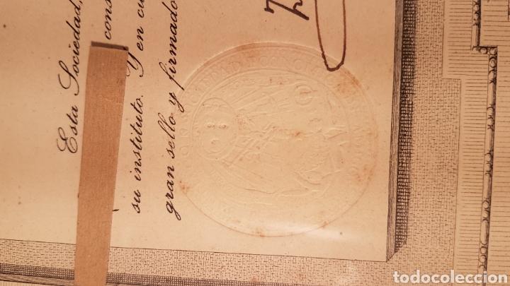 Documentos antiguos: ANTIGUO TITULO DE SOCIO DE SOCIEDAD ECONÓMICA DE AMIGOS DEL PAIS DE LA CIUDAD DE SANTIAGO. AÑO 1923 - Foto 3 - 197914086